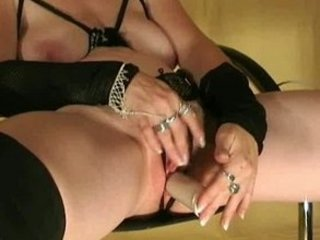 german, grownup chick with juicy kitty pushing