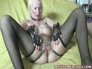 gangbanged elderly with chains to her drilled fur