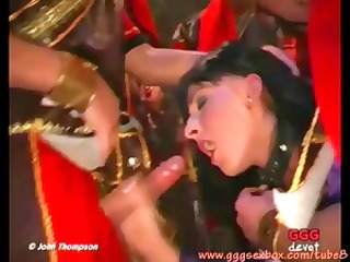 brunette lady in sex scenes into movie gets