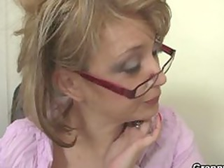 mature bureau boss forces him pierce her hard