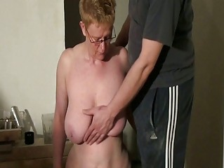 horny grownup slaves spanking and cock sucking