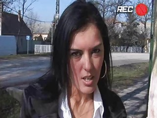 fat chested brunette momma takes banged inside