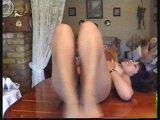 italian lady danica pleases with her shaggy muff
