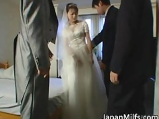 asian bride takes unmerciful group fucking part2