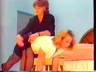 shapely anal receives a vintage spanking