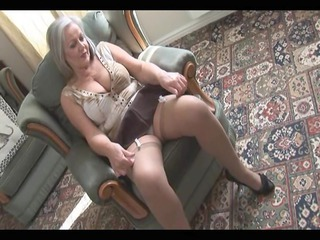 attractive slutty granny inside nylons exposing