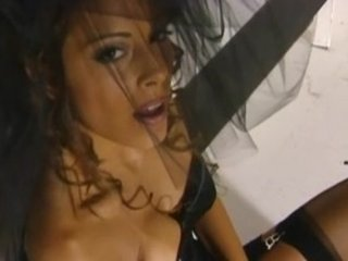 stunning lady felecia pleases inside a corset and