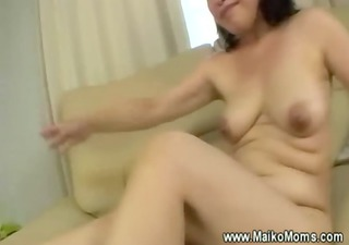 rubbing mature maikos curly vagina