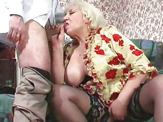 heavy cougar maid obtains gangbanged