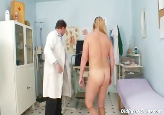 big love melons golden-haired aged hairy cunt exam