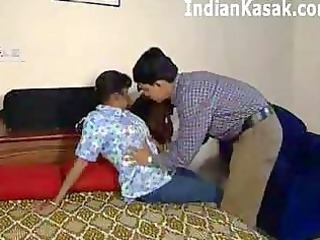 indian older  aunty banging with pretty boy into