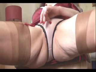 big boobs grownup lady demonstrates off sheer