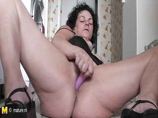 horny grown-up amp granny masturbating all