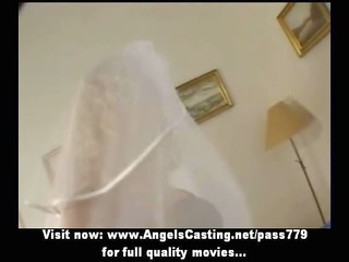 super albino lady as bride does dick sucking and