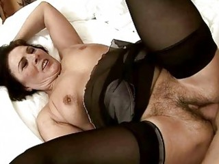 dirty granny acquires her shaggy vagina drilled