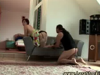 older  british chick into nylons takes drilled