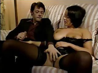 lady slut into black pantyhose takes her shaggy