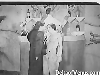 vintage fuck 1930s - ffm triple - nudist bar