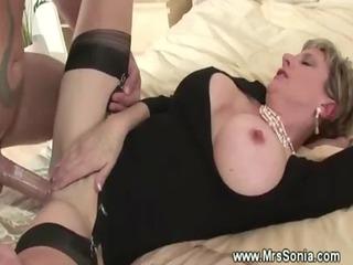 cuckold watches woman bang