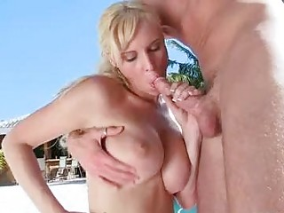 pale momma brittania lady hooks her oral on a wet