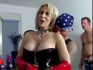 erica lauren is a shorthaired blond lady clad