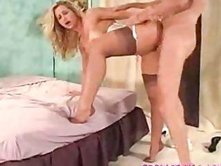 blonde mature babe super in feet job part4