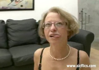 aged floozy fisted and fucked by two brutes
