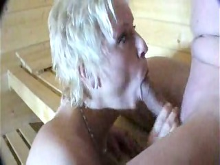 drilling and licking in the sauna