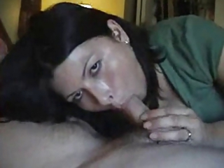 gorgeous inexperienced wife licks cock and gulps