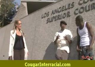 hard interracial sex with a super sexy cougar