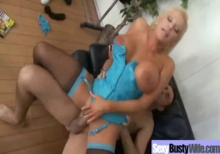 hawt busty mommy receive hardcore group-sex act