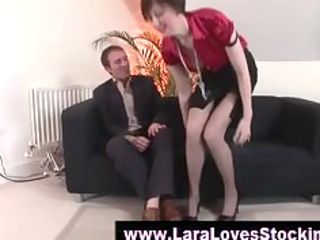 nylons older  lady into high shoes