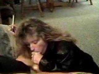 hot cougar inside leather smoking cock sucking