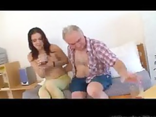 tiny tittted lady takes banged by grandpa part1