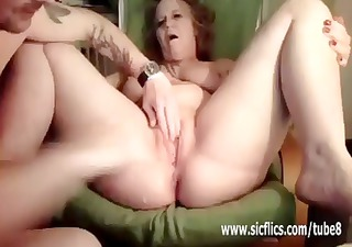mature housewife has her legs spread for a brutal
