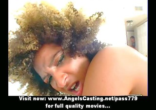 shaggy haired black lady getting screwed hard