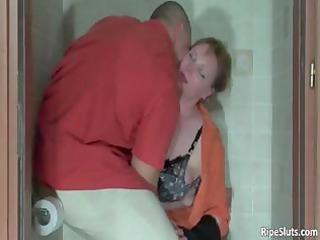 muscled bodybuilder grabs poor woman part3