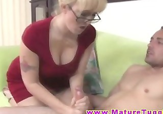 cfnm mother i with glasses jerking off penis
