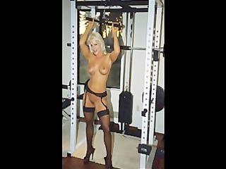 photograph video fbb blonde muscle bodybuilder