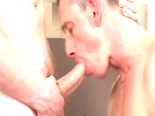 super mature guy takes sucked and rimmed by twink