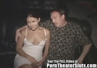 cheating bitch wife pleases porn theater
